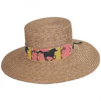 Wild Horses Milan Straw Boater Hat