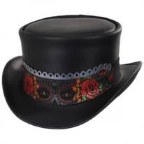 La Catrina Leather Top Hat