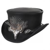 True Grit Leather Top Hat