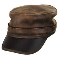 Bottle Rocker Leather Cadet Cap