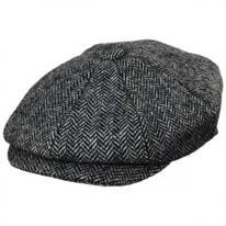 Pimlico Wool Herringbone Newsboy Cap