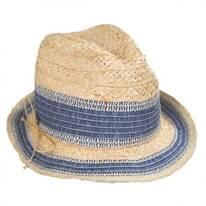 Monte Carlo Raffia Straw Blend Fedora Hat