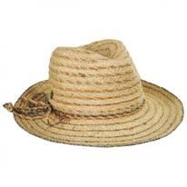 Seagrass Raffia Straw Blend Fedora Hat