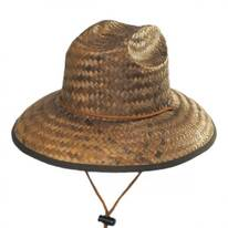 Kids' Costa Brava Palm Straw Lifeguard Hat