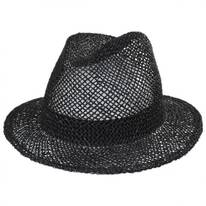 Dunns Open Weave Straw Fedora Hat
