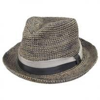 Matteo Hand Crocheted Raffia Straw Fedora Hat