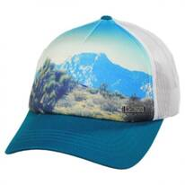 Cotton Blend Mesh Trucker Snapback Baseball Cap