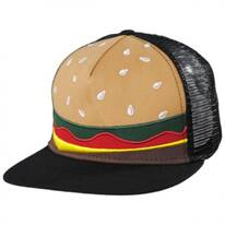 Kids Burger Trucker Snapback Baseball Cap