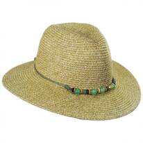 Beach Glass Toyo Straw Fedora Hat