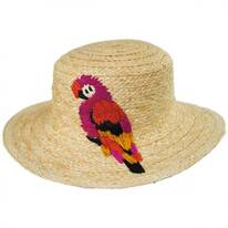 Polly Parrot Raffia Straw Boater Hat
