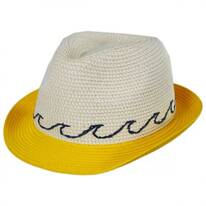 Waves Kids Toyo Straw Blend Fedora Hat