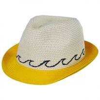 Waves Kids Toyo Straw Blend Fedora Hat