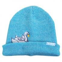 Peek A Boo Swan Float Beanie Hat