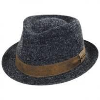 Braid Wool Blend Fedora Hat