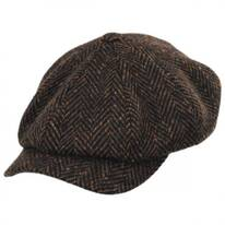 Magee Donegal Tweed Herringbone Wool Newsboy Cap