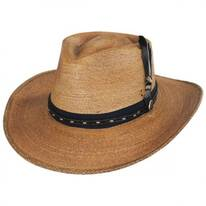 Folk Palm Straw Fedora Hat