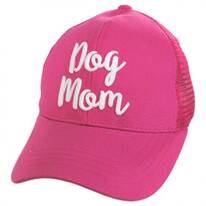 Dog Mom High Ponytail Adjustable Trucker Baseball Cap