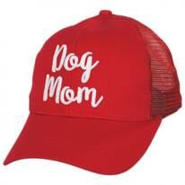 Dog Mom High Ponytail Adjustable Trucker Baseball Cap
