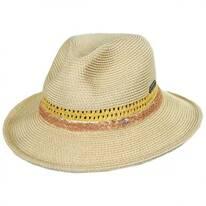 Cosmopolitan Toyo Straw Fedora Hat