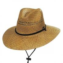 Aussie Palm Straw Lifeguard Hat