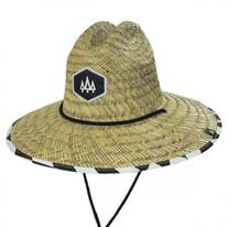 Checker Straw Lifeguard Hat