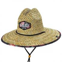 Floral Straw Lifeguard Hat