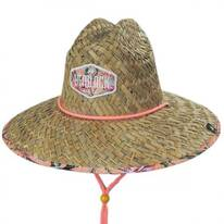 Flamingo Straw Lifeguard Hat
