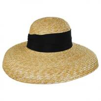 Holly Milan Straw Lampshade Hat