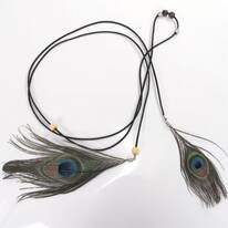 Peacock Hat Band