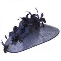 Feather Flower Big Brim Fascinator Headband