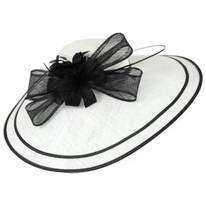 Two-Tone Big Brim Fascinator Headband