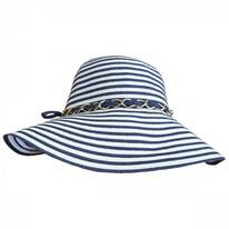 Beach Party Toyo and Ribbon Braid Floppy Swinger Hat