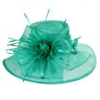 Aquaria Sinamay Straw Lampshade Hat