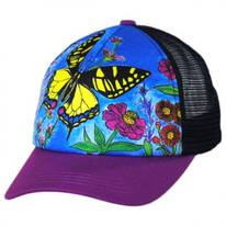 Child's Butterfly Trucker Snapback Baseball Cap