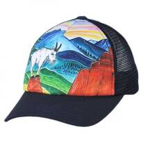 Child's Mountain Goat Trucker Snapback Baseball Cap