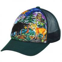Child's Forest Friends Trucker Snapback Baseball Cap