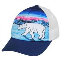 Child's Polar Bear Trucker Snapback Baseball Cap