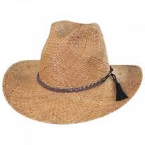Frisco Raffia Straw Aussie Western Hat