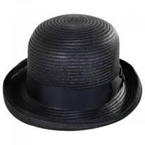 Kanye Toyo Straw Bowler Hat