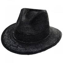 Messer Crochet Raffia Straw Fedora Hat