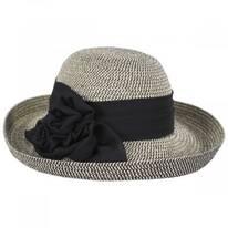 Crinkle Rose Toyo Straw Roller Hat