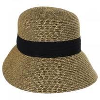 Asymmetrical Brim Toyo Straw Cloche Hat