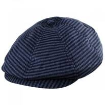 Brood Stripe Cotton Blend Newsboy Cap