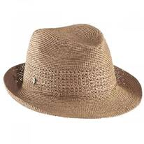 Abaka Luca Raffia Crochet Fedora