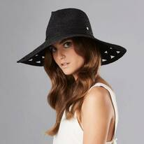 Sisley Raffia Crochet Fedora Hat