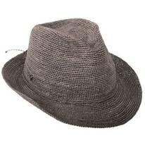 Abaka Crochet Raffia Straw Fedora Hat