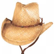 Husky Raffia Straw Western Hat