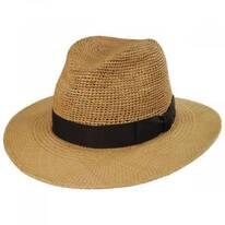 Ricardo Crochet Panama Straw Fedora Hat