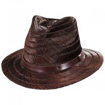 Messer Rush Straw Fedora Hat