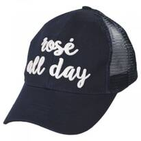 High Ponytail Rose All Day Mesh Adjustable Baseball Cap
